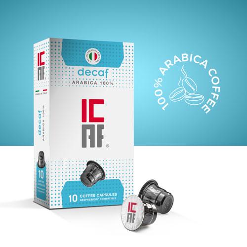 Capsule compatibili nespresso decaffeinato icaf decaf