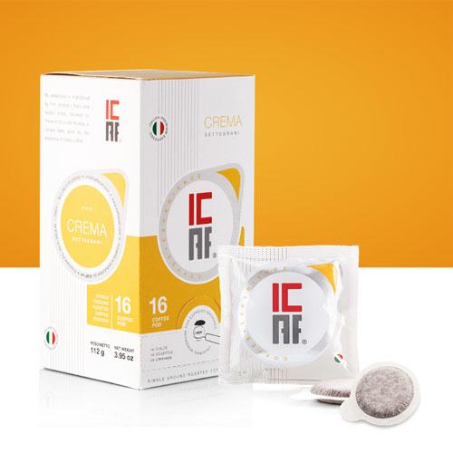 Cialde caffè macinato fresco crema icaf settegrani