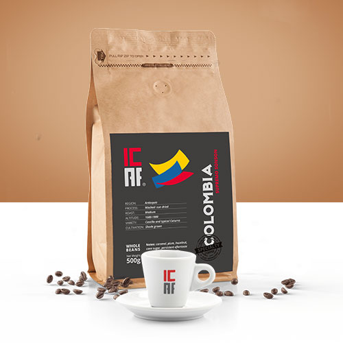 Specialty coffee, caffè monorogine, colombia icaf