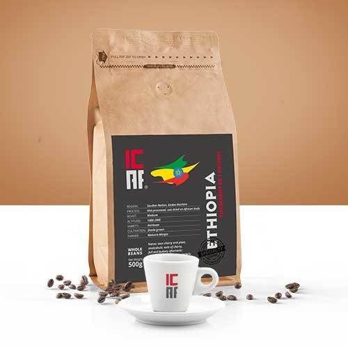 Specialty coffee, caffè monorogine, ethiopia icaf