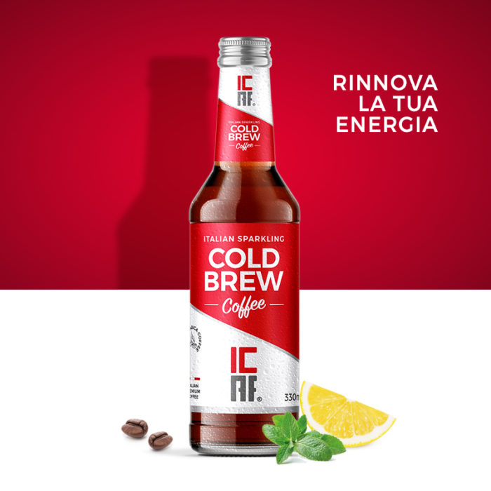 Cold brew coffee bottiglia 33cl Icaf drinks
